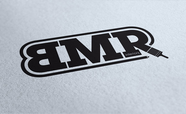 BMR Interiors logo on paper